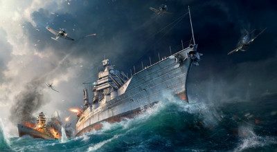 Бой в игре World of Warships
