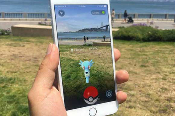 Ловля водного покемона в Pokemon Go