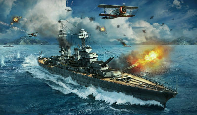 Бой в World of Warships