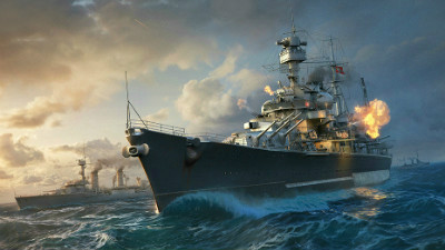 Бой кораблей в World of Warships