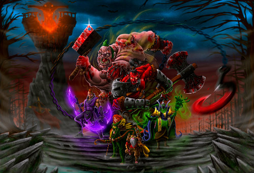 Pudge, Axe, Antimag, Rubick, Sniper, Windrunner в Dota 2