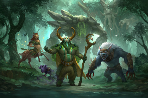 Tiny, Ursa, Riki, Nature's Prophet, Enchantress в Dota 2